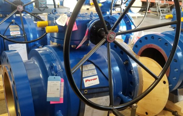 "16"" Trunnion mounted ball valves with additional hydrostatic testing"