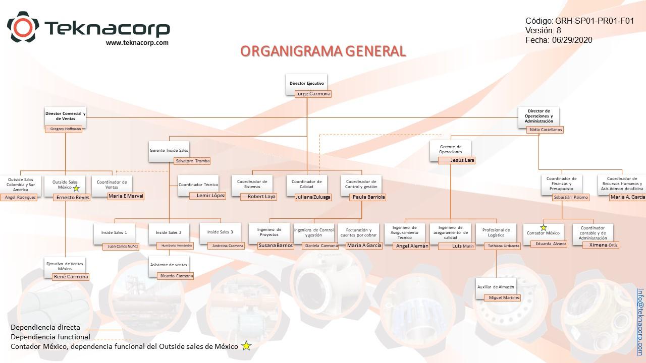 Organigrama Teknacorp